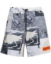 Heron Preston Swim Printed Shorts - Gray