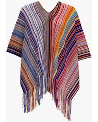 Missoni Poncho a Righe - Multicolore