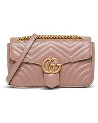 Gucci - Borsa GG Marmont Medium in pelle - Lyst