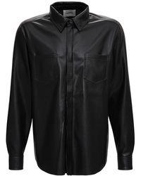 Nanushka Declan Shirt In Vegan Leather - Black