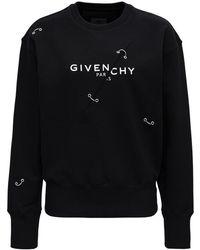 Givenchy Felpa di Cotone Trompe L'Oeil di Cotone - Nero