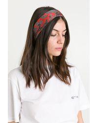 Etro Paisleyna Headband - Red