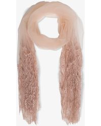 Valentino Garavani Pink Stole With Lace Insert