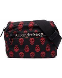 Alexander McQueen Marsupio biker skull urban in nylon - Multicolore