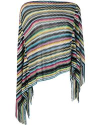 Missoni - Poncho a Righe Multicolor - Lyst
