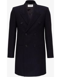 Saint Laurent Tailored Double-breasted Coat - Blue