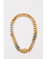 Versace - Collana In Metallo Con Cristalli E Testa Di Medusa - Lyst