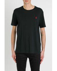 Polo Ralph Lauren Logo Embroidered T-shirt - Black