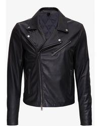 Tagliatore Leather biker jacket - Nero