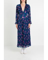 Philosophy Di Lorenzo Serafini Long Dress In Floral Voile - Blue