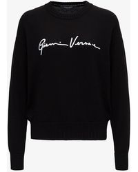 Versace Sweatshirt With Signature - Black