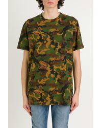 Off-White c/o Virgil Abloh T-shirt camouflage - Verde