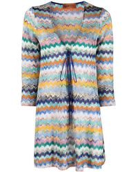 Missoni - Cardigan Zig Zag Multicolor - Lyst