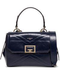 Givenchy Borsa a Mano Id Flap Piccola in Pelle Blu
