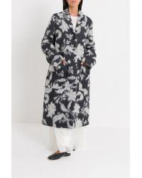 Jil Sander Flowers Alpaca Coat - Multicolor
