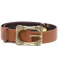 Alberta Ferretti Buckled Leather Belt - Brown