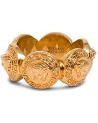 Versace Medusa Ring In Gold Metal - Metallic