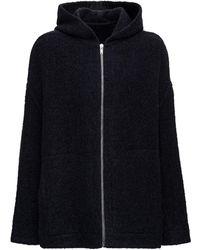 Rick Owens Wool Blend Knitted Coat - Black