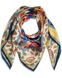 Etro Jodhpur Silk Foulard - Blue
