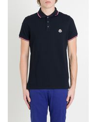 Moncler - Polo Shirt With Contrast Edge - Lyst
