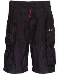Off-White c/o Virgil Abloh Cotton Cargo Shorts With Logo - Black