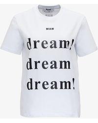 MSGM T-Shirt Dream - Bianco