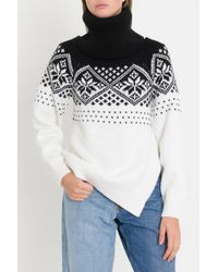 Monse - Turtleneck With Snow Flakes Motif And Cut Out - Lyst