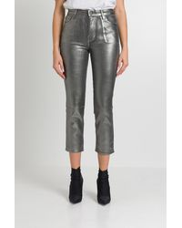 J Brand Ruby High-rise Cropped Cigarette - Gray