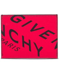 Givenchy Fragment Leather Card Holder - Red