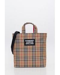 Burberry Artie Tote Bag - Natural
