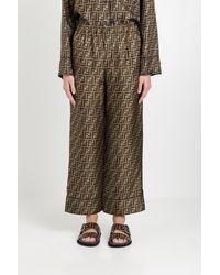 Fendi Ff Pyjama Trousers - Brown