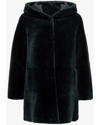Blancha Reversibile Shearling Coat - Green