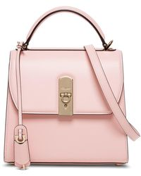 Ferragamo Boxyz Handbag In Pink Leather