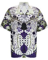 Valentino - Cotton Poplin Bowling Shirt - Lyst