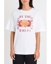 Chloé Oversized Slogan T-shirt - White