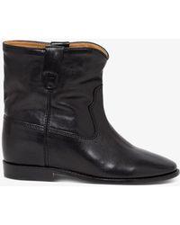 Isabel Marant Leather Cluster Boots - Black