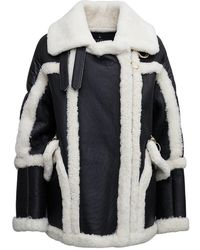 Nicole Benisti Montaigne And White Quilted Shearling Coat - Black
