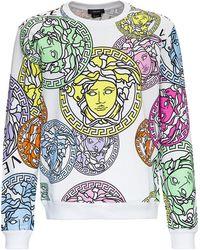 Versace - Felpa con Stampa Medusa Amplified - Lyst
