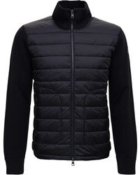 Moncler Tricot Cardigan With Logo Patch - Black