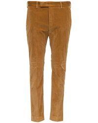 PT01 Pantaloni Sartoriali in Velluto a Coste - Neutro