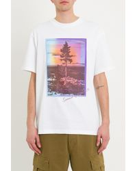 Acne Studios - T-Shirt Con Stampa - Lyst