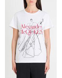 Alexander McQueen Dancing Girls Tee - White