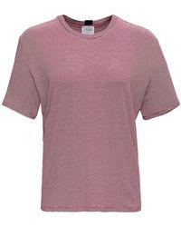 ..,merci T-Shirt Bianca e Rossa a Righe in misto Viscosa - Rosso