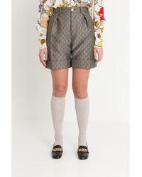 Gucci - Gg Wool Canvas Shorts - Lyst