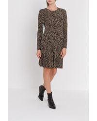 MICHAEL Michael Kors - Animal Print Ruffle Dress - Lyst