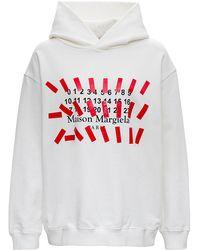 Maison Margiela Cotton Hoodie With Logo Print - Multicolor