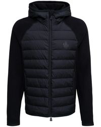 3 MONCLER GRENOBLE Tricot Nylon And Fabric Cardigan With Logo Print - Black