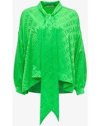 Balenciaga Camicia Logata - Verde