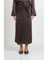 Nanushka Amas Washed Satin Midi Skirt - Multicolor