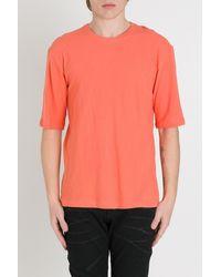 Laneus Crew Neck Jersey T-shirt - Orange